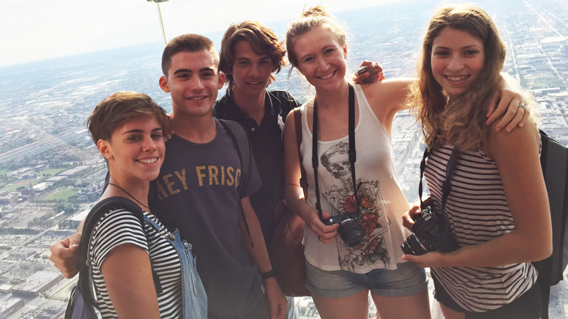 J-1 exchange students at the Skybox